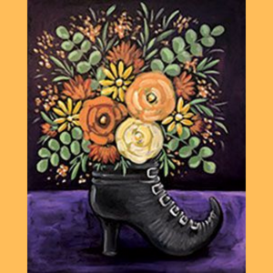 Witch's Boot Bouquet