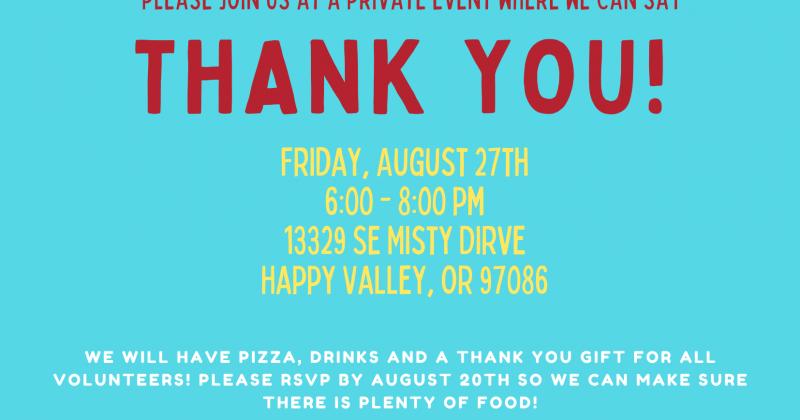Volunteer Appreciation Event