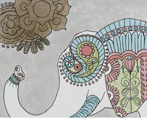 Boho Elephant
