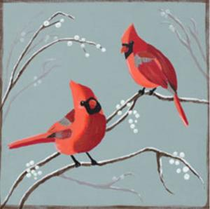 Cardinals and Berries (1)