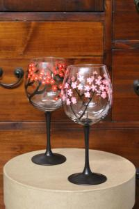 Cherry Blossom Wine Glass (1)