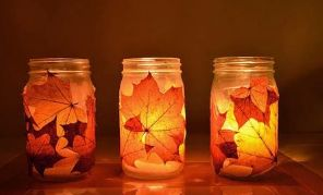 Fall Leaves Mason Jar (1)