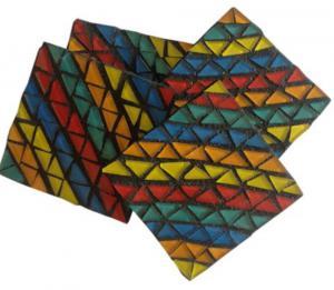 Mosaic Rainbow Coasters