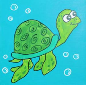 Swimming Sea Turtle (1)